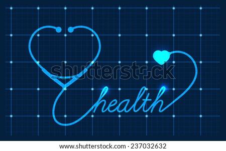 Medical Valentines symbol - stock photo