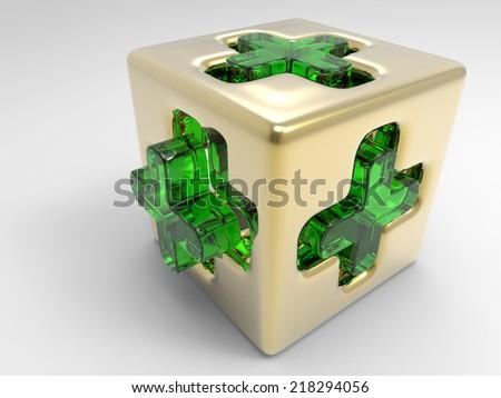 Medicalcube - stock photo