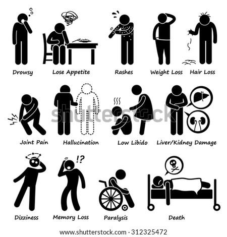 Medication Drug Side Effects Symptoms Pictogram 312325469