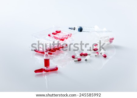 medications on a white background, health-care,  - stock photo