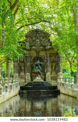 Medici Fountain, Luxembourg Garden, created in 1612 by Marie de' Medici, the widow of King Henry IV of France