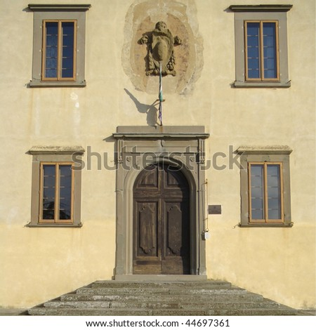 Medici Villa in Cerreto Guidi near Florence, Unesco World Heritage site, Tuscany, Italy, Europe - stock photo