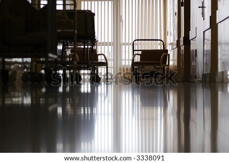 Medicine  background. Shot in a hospital. - stock photo