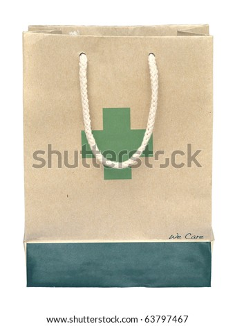 Medicine bag made from recycle paper - stock photo
