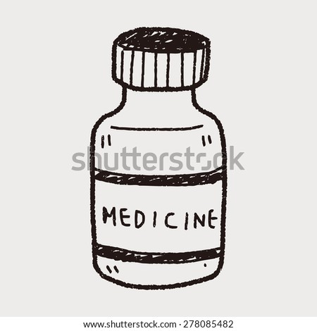 Drink water bottle cartoon vector illustration stock for How to draw a pill