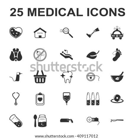 y học, chăm sóc, bệnh viện 25 biểu tượng đơn giản màu đen thiết cho thiết kế web