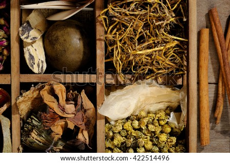 medicine herb - stock photo