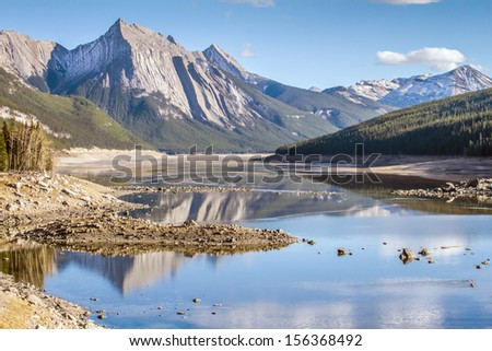 Medicine Lake, Jasper - stock photo
