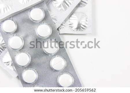 Medicine packs isolated on white background