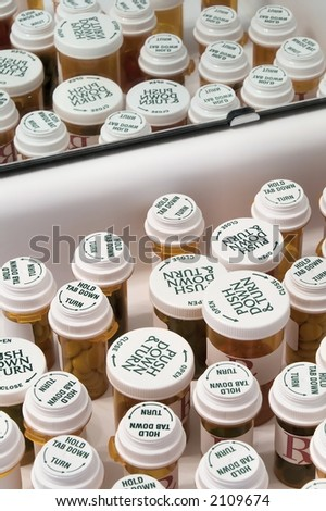 Medicine Pill Bottles - stock photo