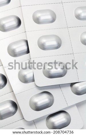 Medicine Pills and Capsules In Blister Packs  - stock photo