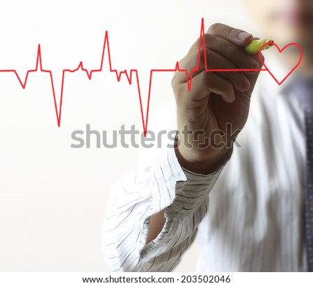 Medicine, the Hand drawing symbol - stock photo