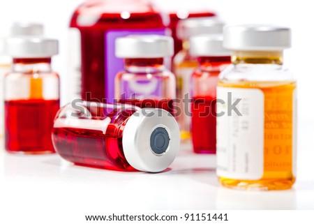 medicine vials - stock photo