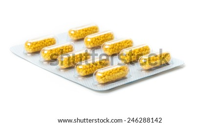 Medicines in blister packs - stock photo