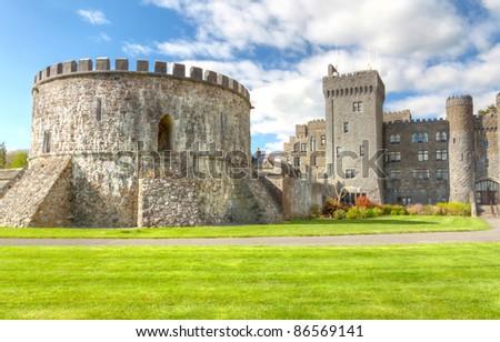 Medieval Ashford castle -  Co. Mayo - Ireland - stock photo