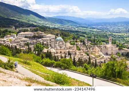 medieval Assisi, Umbria, Italy - stock photo