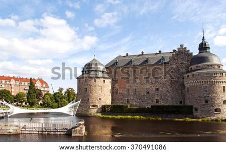 Medieval castle in Orebro, sweden - stock photo