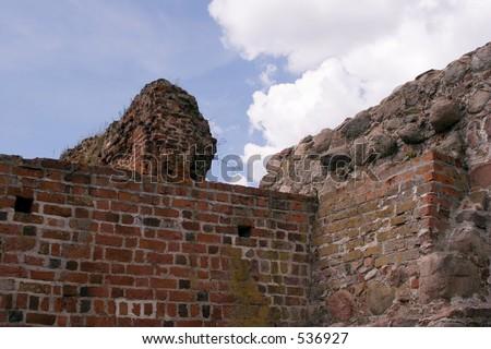 Medieval castle in Poland - stock photo