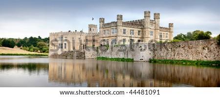 Medieval castle of Leeds, in kent, UK - stock photo