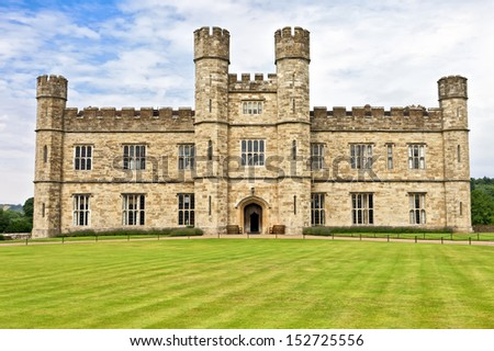 Medieval castle of Leeds in Lent, England, United Kingdom - stock photo