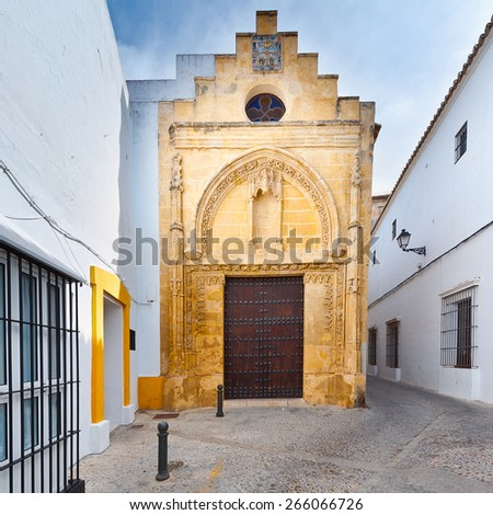 Medieval Catholic Church in Arcos, Spain