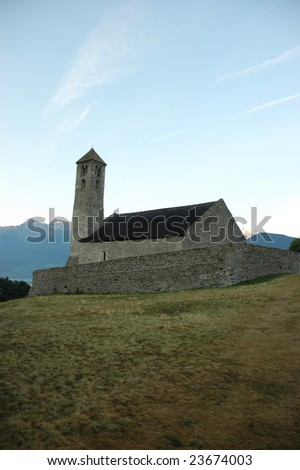 Medieval Church - about 800 years old in Northern Italy - stock photo