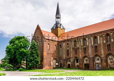 medieval Cistercian monastery in Kolbacz, Poland - stock photo