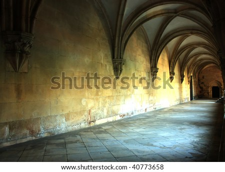 Medieval corridor in the cloister