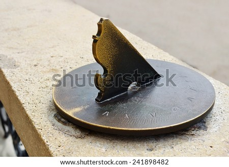 Medieval European sundial - stock photo