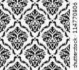 Medieval floral seamless in damask style for design. Vector version also available in gallery - stock vector