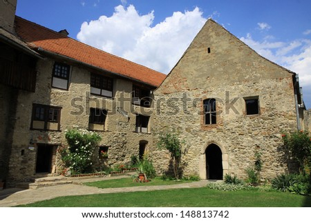 Medieval fortress in Calnic (Kelnek, Kelling,  Kellenk), in Transylvania, Romania - UNESCO heritage - stock photo
