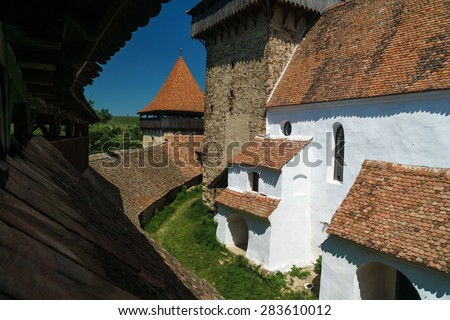 medieval Gothic fortress - stock photo