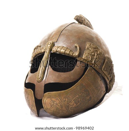 Medieval Helmet - stock photo