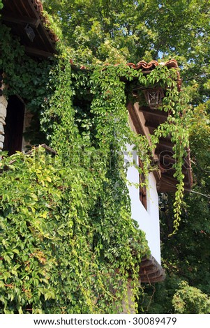 Medieval house shot in the Balchik Botanic garden, Bulgaria - stock photo
