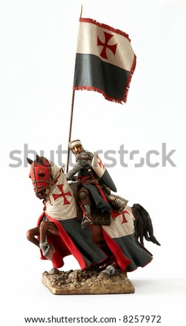 Medieval knight statuette - stock photo