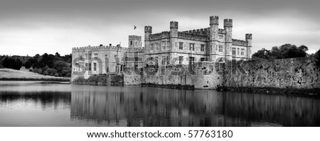 medieval Leeds castle, Kent, England - stock photo