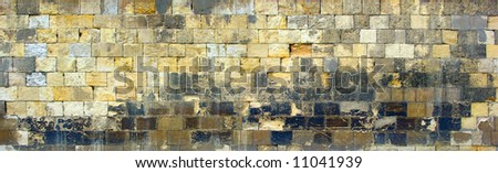 Medieval old wall texture from Cairo Citadel - stock photo