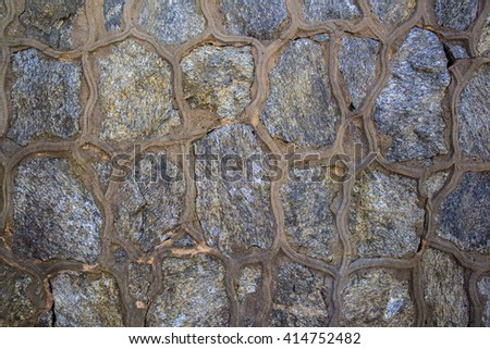 Medieval stone wall (background)