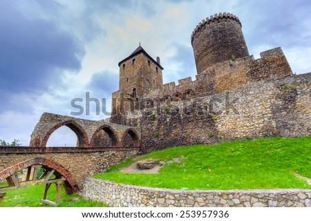 Medieval 14th century castle in Bedzin, Poland - stock photo