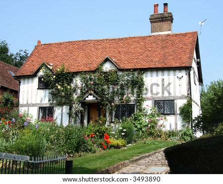 Medieval Timber Framed English Cottage and Garden