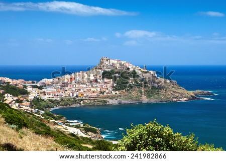 Medieval town Castelsardo, Sardinia, Italy  - stock photo