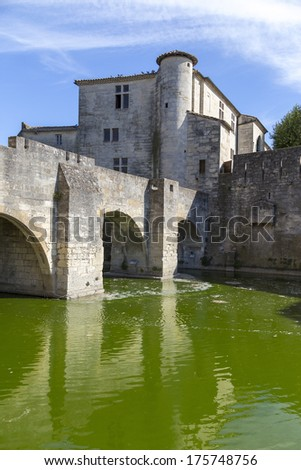 Medieval town of Aigues-Mortes in Languedoc-Roussillon, France. - stock photo