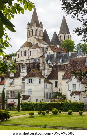 Medieval town of Loches, France