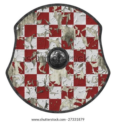 medieval viking shield - stock photo