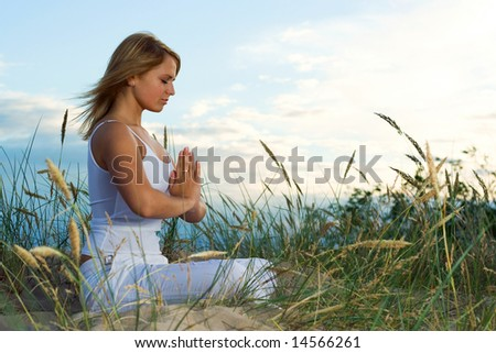 Meditation. - stock photo