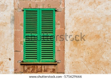 Antique Green Shutters Stock Images, Royalty-Free Images & Vectors ...