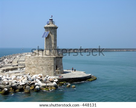 Mediterranean Lighthouse - stock photo