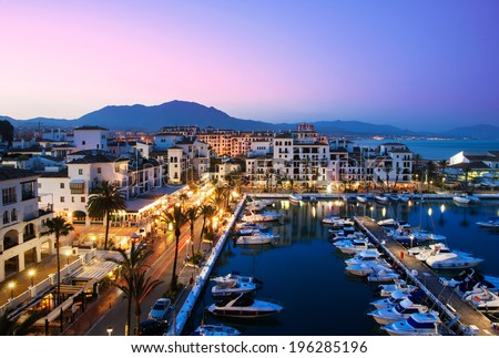Mediterranean nightlife - stock photo
