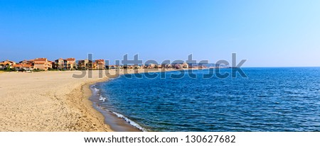 Mediterranean sea coast. Nice France. - stock photo