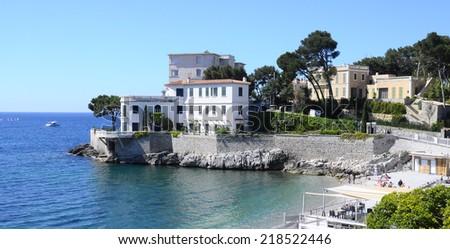Mediterranean sea landscape in south france, near Bandol - stock photo